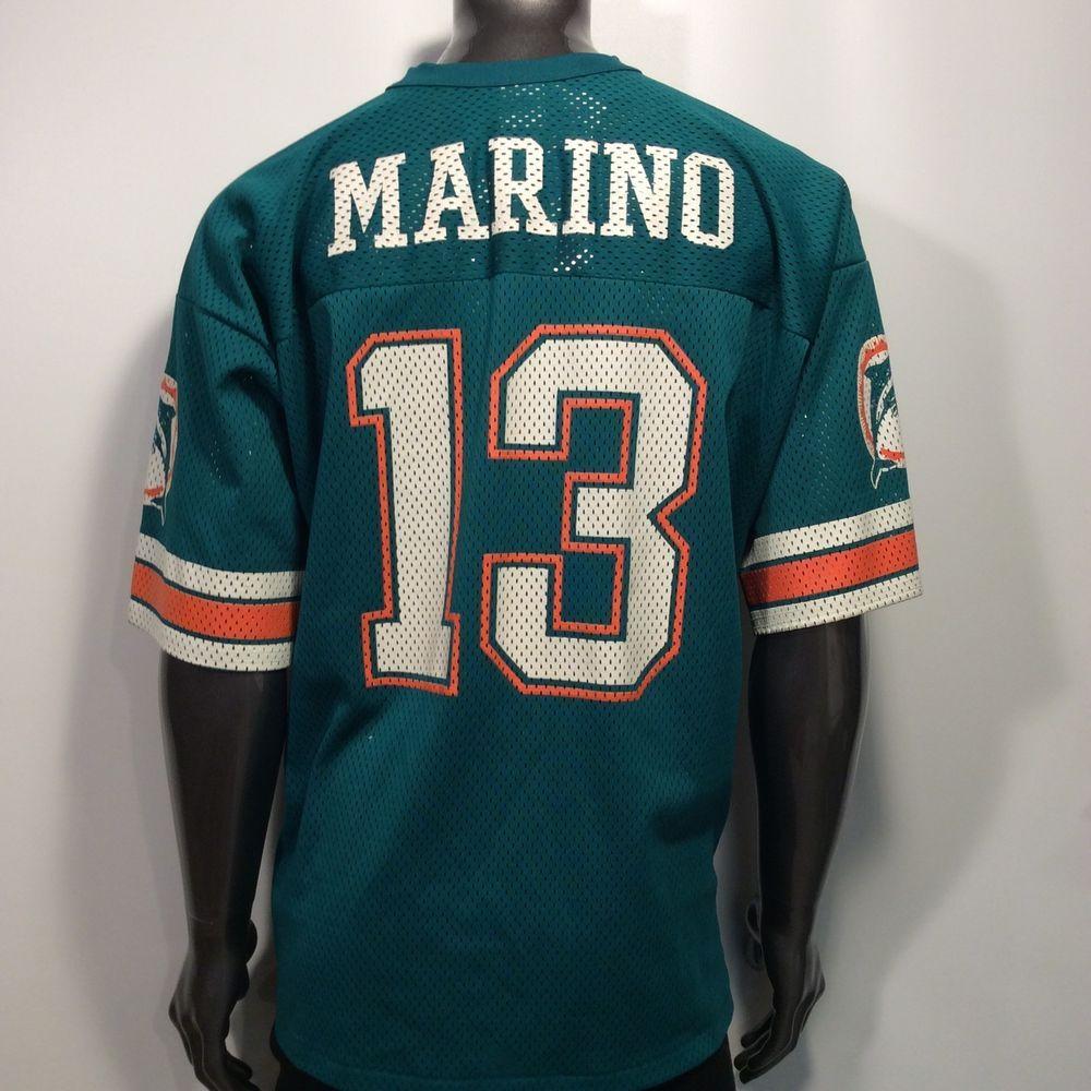 ORIGINAL LOGO 7 Miami Dolphins Dan Marino  13 Men s XL (50-52 ... 285aa07dd