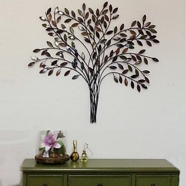metal wall art wall decor the retro style tree wall decor. Black Bedroom Furniture Sets. Home Design Ideas