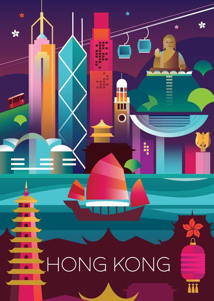 Travel Hong Kong Clip Art