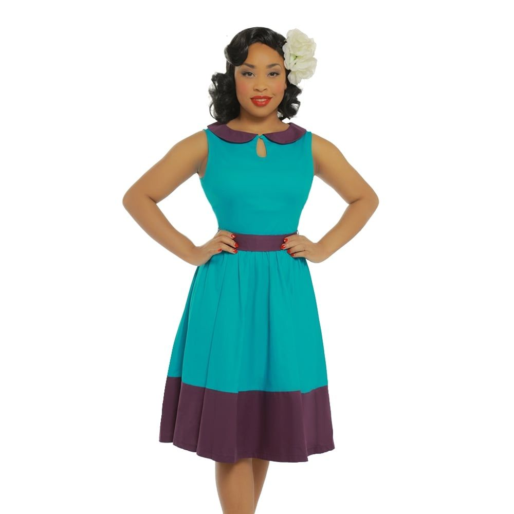 Beattie\' Turquoise Swing Dress | Swings and Turquoise