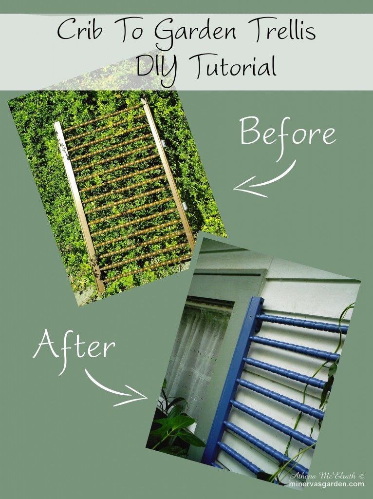 Diy Garden Trellis Ideas Part - 43: Minervau0027s Garden: Crib To Garden Trellis DIY Tutorial