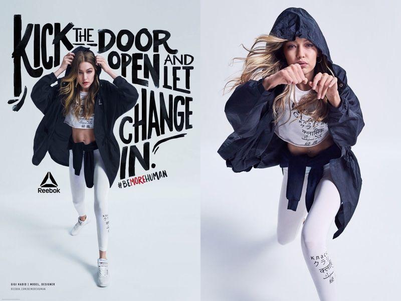 Contorno cocina Teleférico  Gigi Hadid Takes a Stand for Reebok 'Be More Human' Campaign   Campaign  fashion, Brand campaign, Sport branding