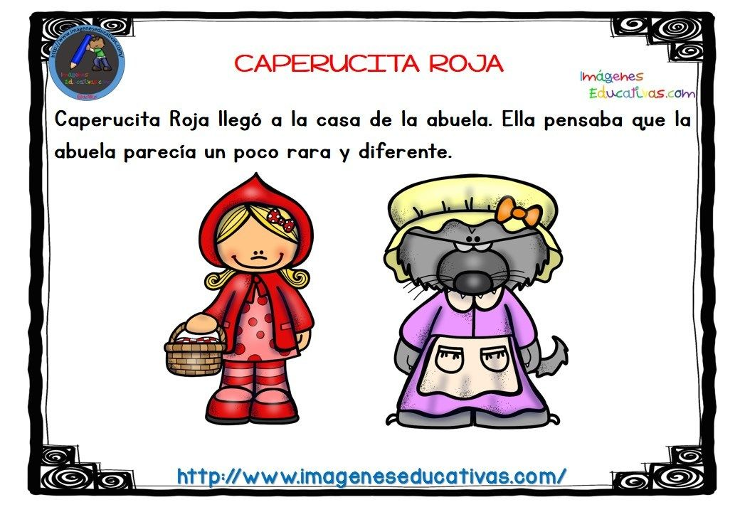 Caperucita Roja Color 7 Comprension Lectora Caperucita Roja Actividades De Lectura