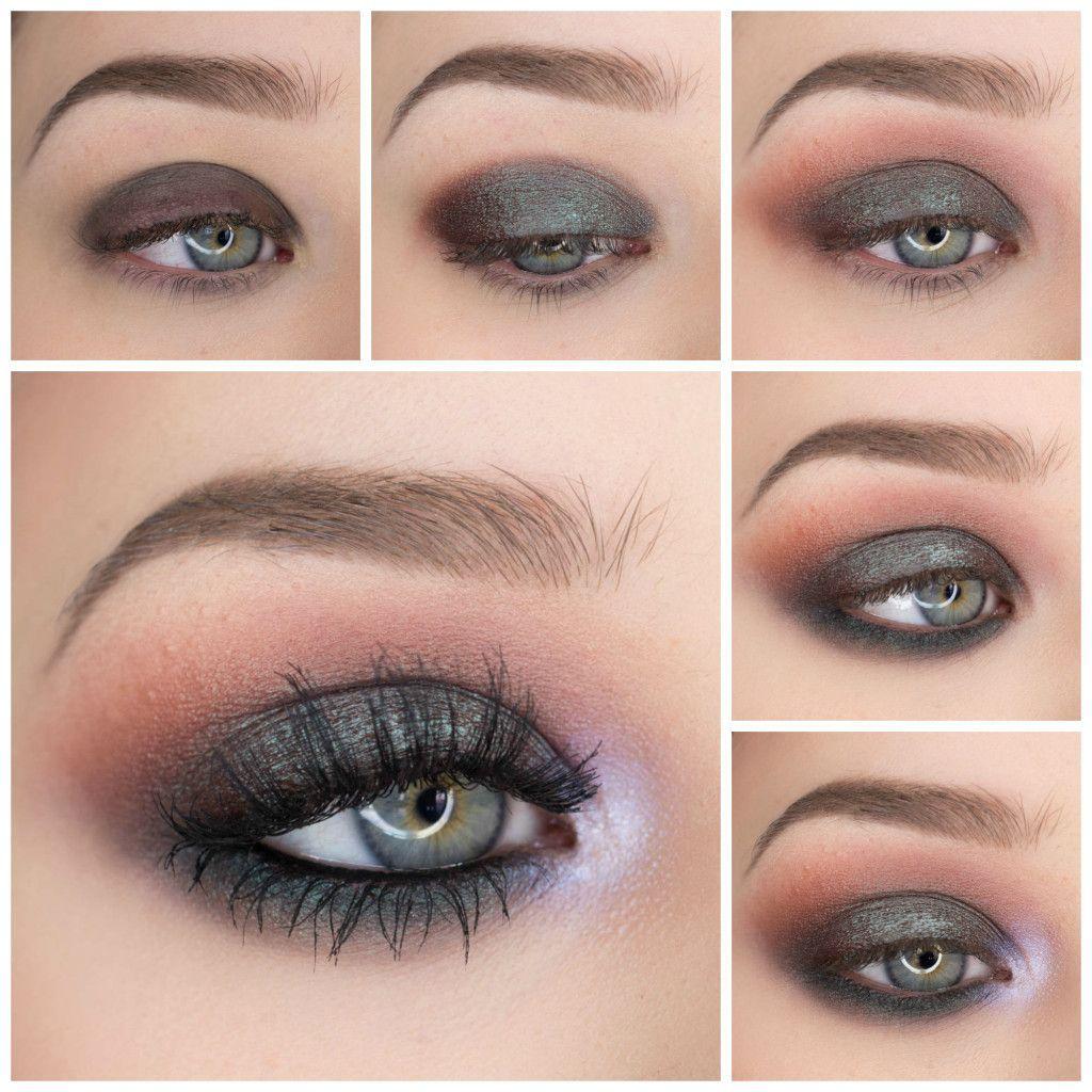 Twilight Grunge Eyeshadow Tutorial Eye makeup blue dress
