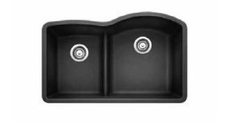 """Blanco 441598 Diamond 32"""" Anthracite 1-3/4 Bowl Reverse With Low Side"""