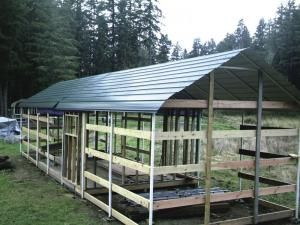 Farm show carports turned into low cost barn hobby for Carport construction costs