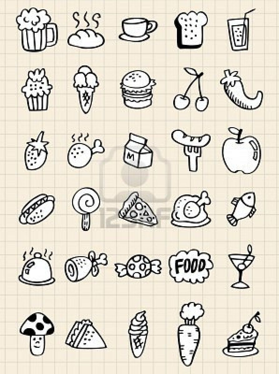 Food Doodles Doodle Drawings How To Draw Hands Doodles
