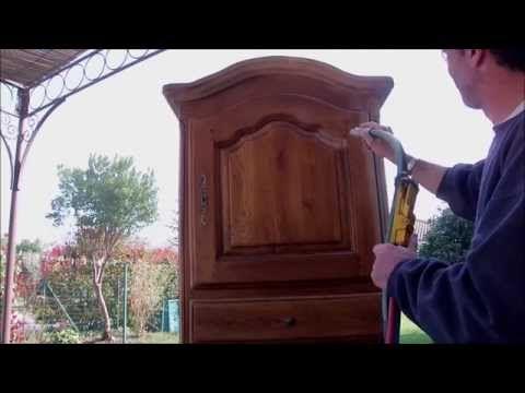 décapage meuble en chene ciré #chene #decapage #meuble Travaux - Renovation Meuble En Chene