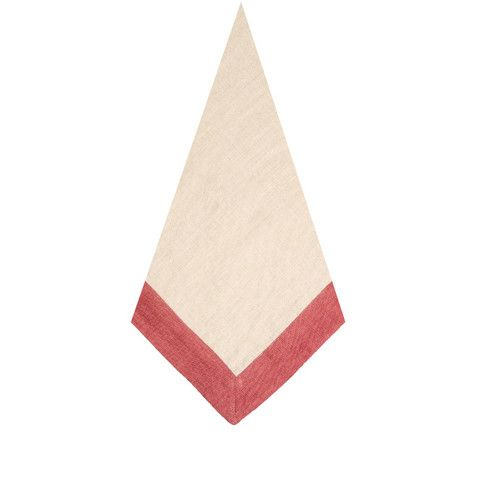 Pomegranate Inc | The Madison Natural/Cranberry Napkins (Set of 4)