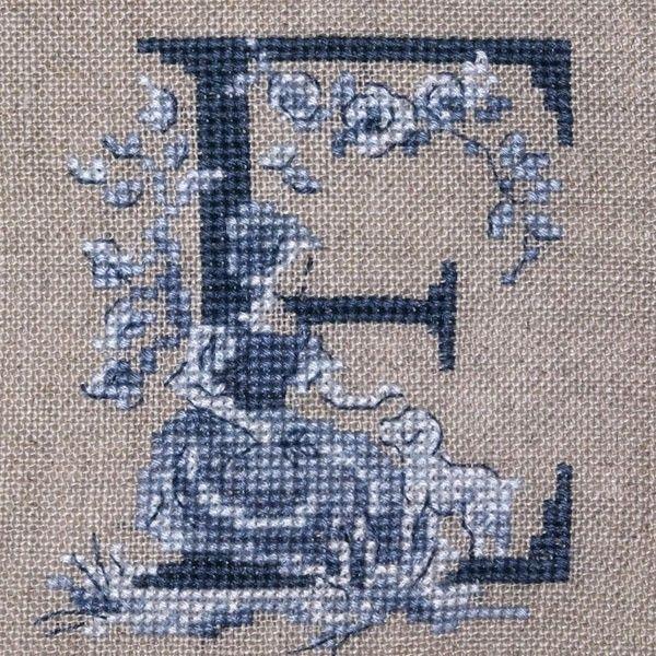 le grand abc 171 toile de jouy 187 bleu 224 broder au point de croix bordar cross stitch