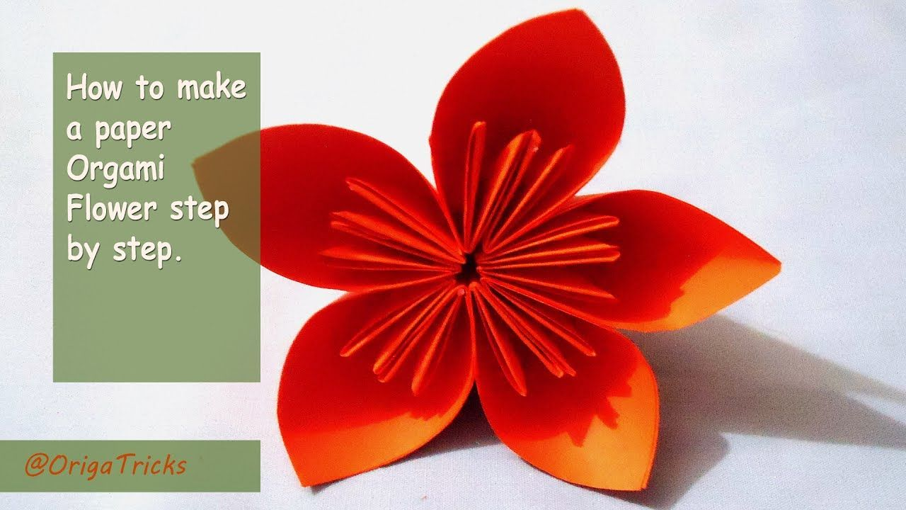 How To Make A Paper Origami Flower Step By Step Origami Tricks