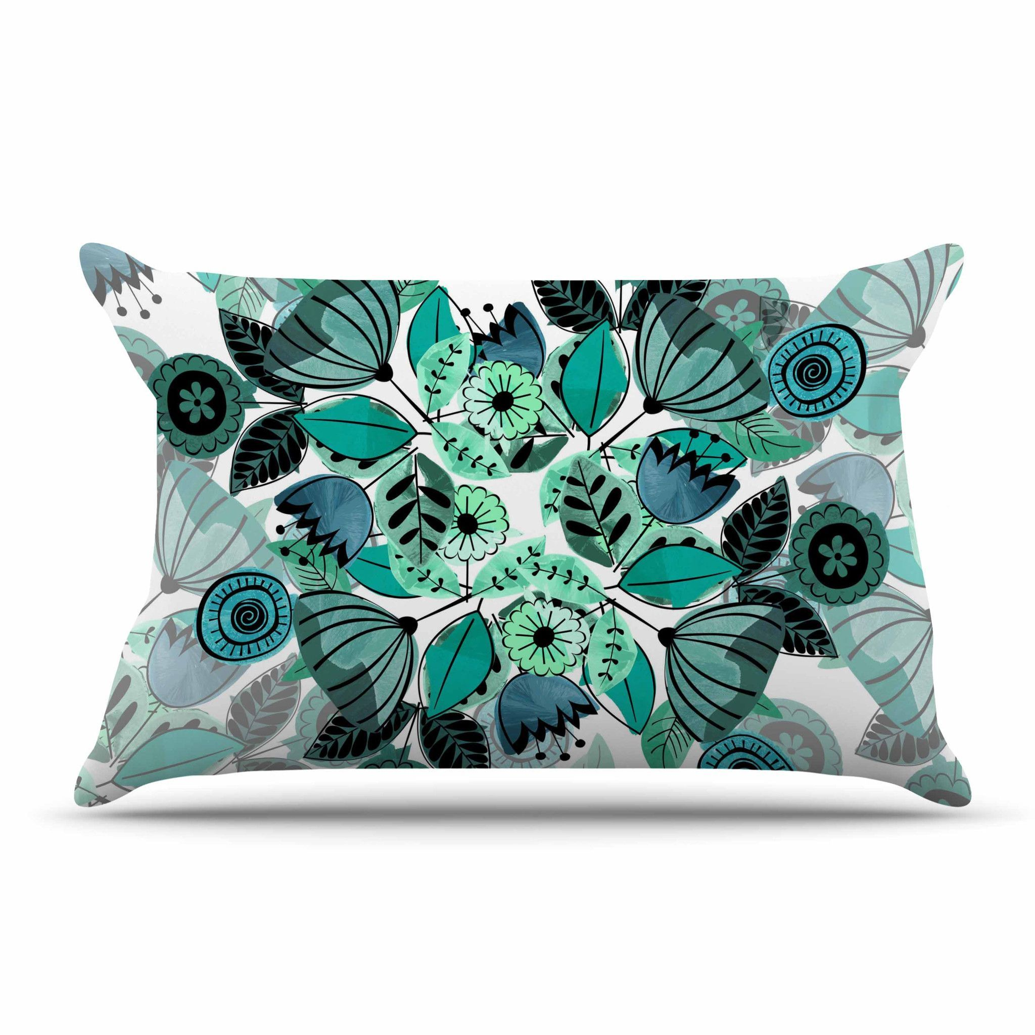 Sognare Cuscini.Famenxt Mint Sognare Green Abstract Pillow Case Floral Pillows