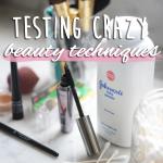 Testing Crazy Beauty Techniques | Cupcakes & Cashmere