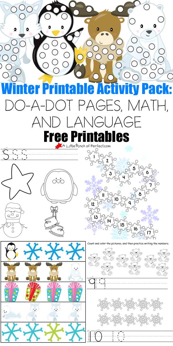 free 30 page winter printables pack winter theme kindergarten winter kids winter activities. Black Bedroom Furniture Sets. Home Design Ideas