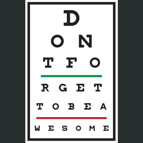 DFTBA Eye Test Poster