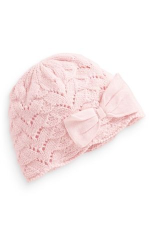 Buy Pink Crochet Bow Hat (0-18mths) from the Next UK online shop