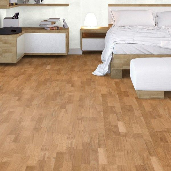 3 Strip Oak Engineered Rustic Lacquered Click Engineered Wood