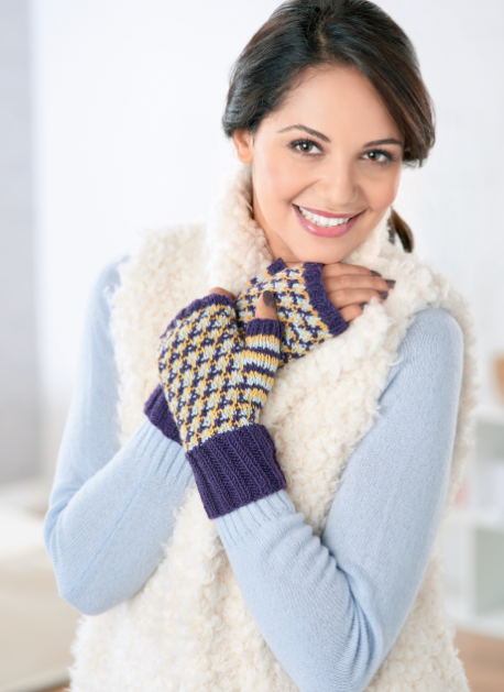 Colourwork Mittens | Free Knitting Patterns | Let's Knit ...