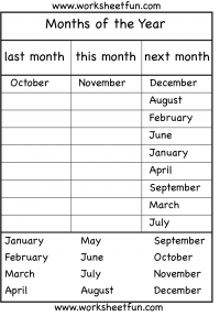 Months Of The Year 4 Worksheets Free Printable Worksheets English Lessons For Kids Seasons Worksheets English Worksheets For Kids