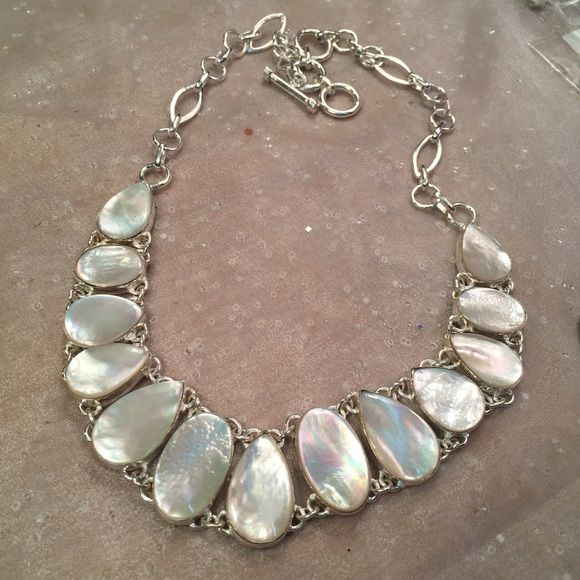Sterling Silver Mother Of Pearl Necklace As Pictured Jewelry Necklaces