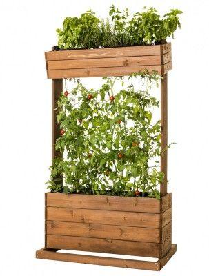 Hochbeet Holz Pflanztisch Pflanzbeet Krauter Beet Und Rankhilfe Fur Tomaten Hochbeet Pflanzen Hochbeet Holz