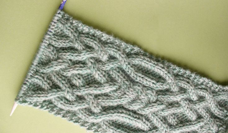 How To Knit A Fancy Celtic Cable Pattern With Knit Scarf Shawl