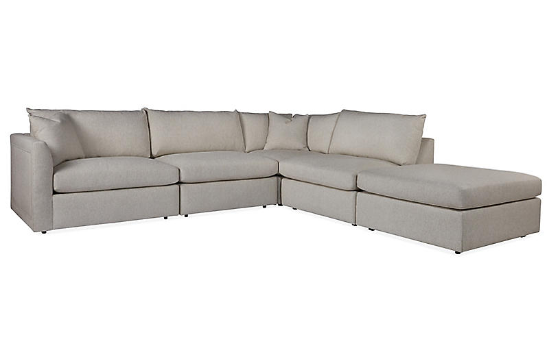 Massoud - Winsor Sectional, Salt | One Kings Lane in 2020 | Sectional, Sectional  sofa, Furniture