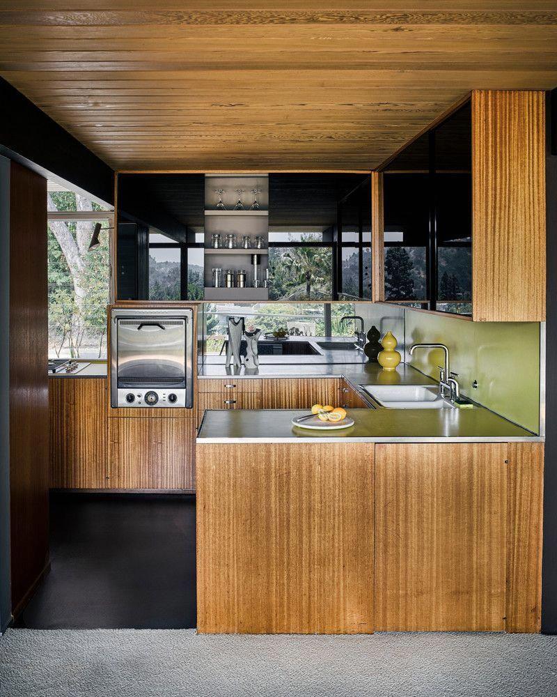 Contemporary Kitchen Interior Design: Richard Neutra Hollywood Home Restoration Pictures