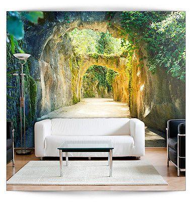 VLIES FOTOTAPETE 3D Tunnel TAPETE TAPETEN Schlafzimmer WANDBILD XXL ...