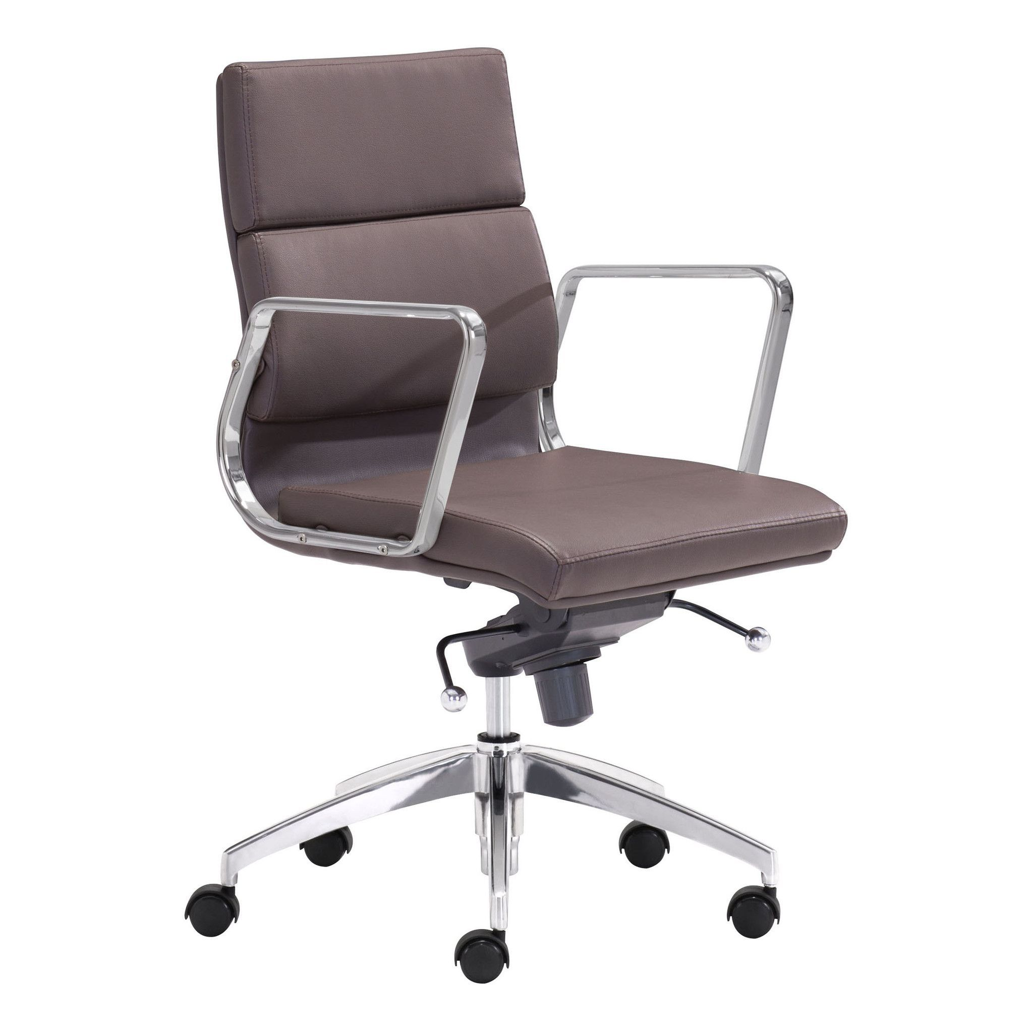 Engineer low back office chair espresso chairs office chairs and
