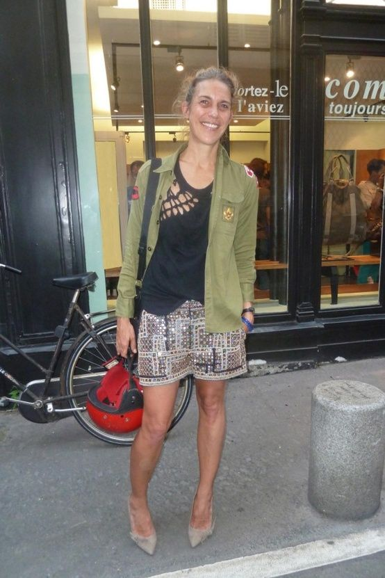 Isabel Marant wearing her own design