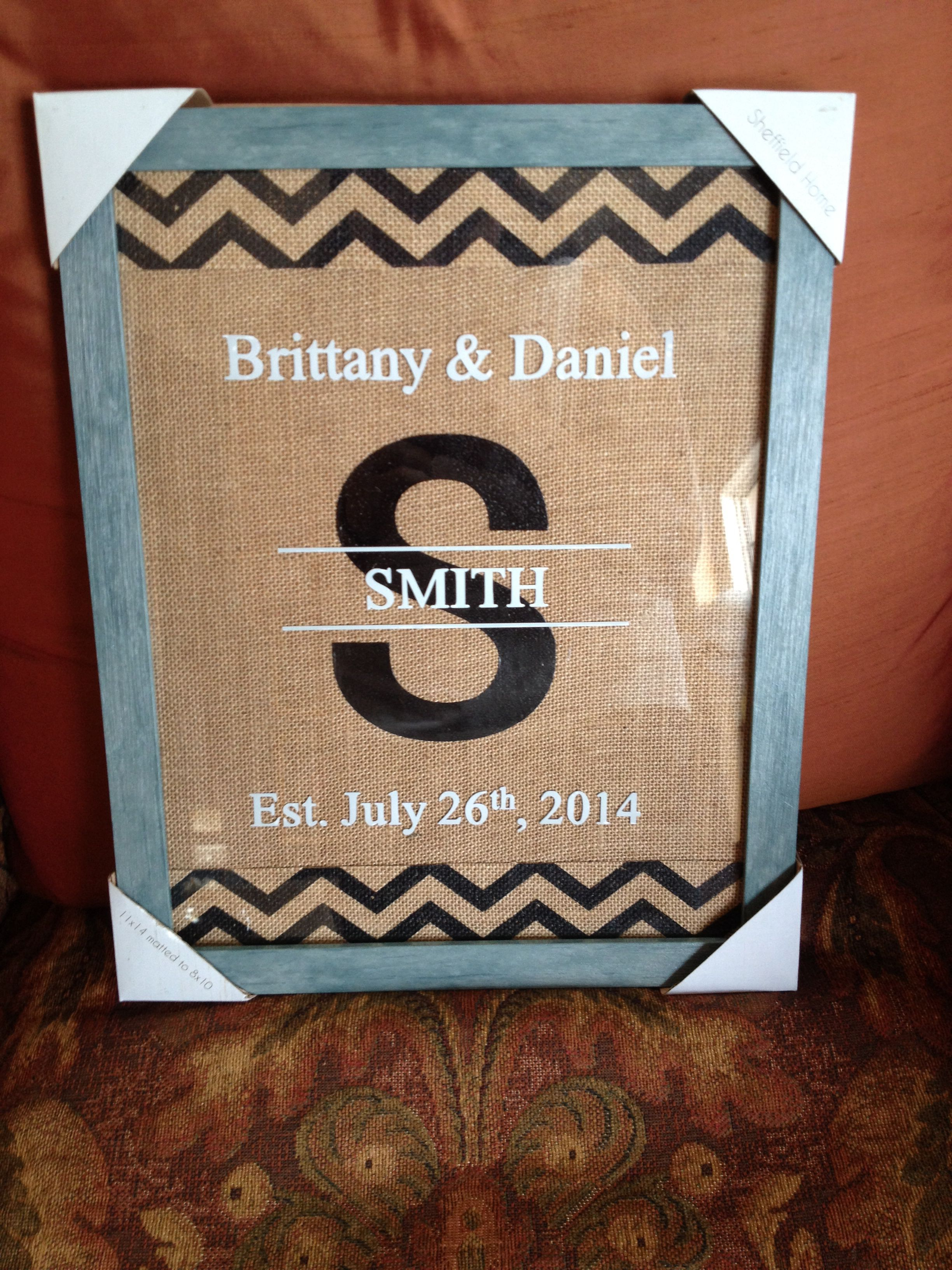 Personalized picture frame!