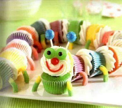 Centopeia de cupcake
