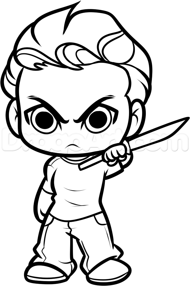 how to draw chibi glenn from the walking dead step 11 | Character ...