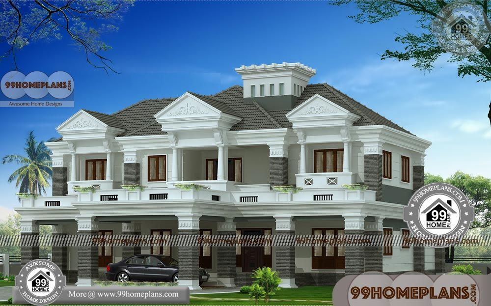 4 bedroom bungalow floor plans  small double story house