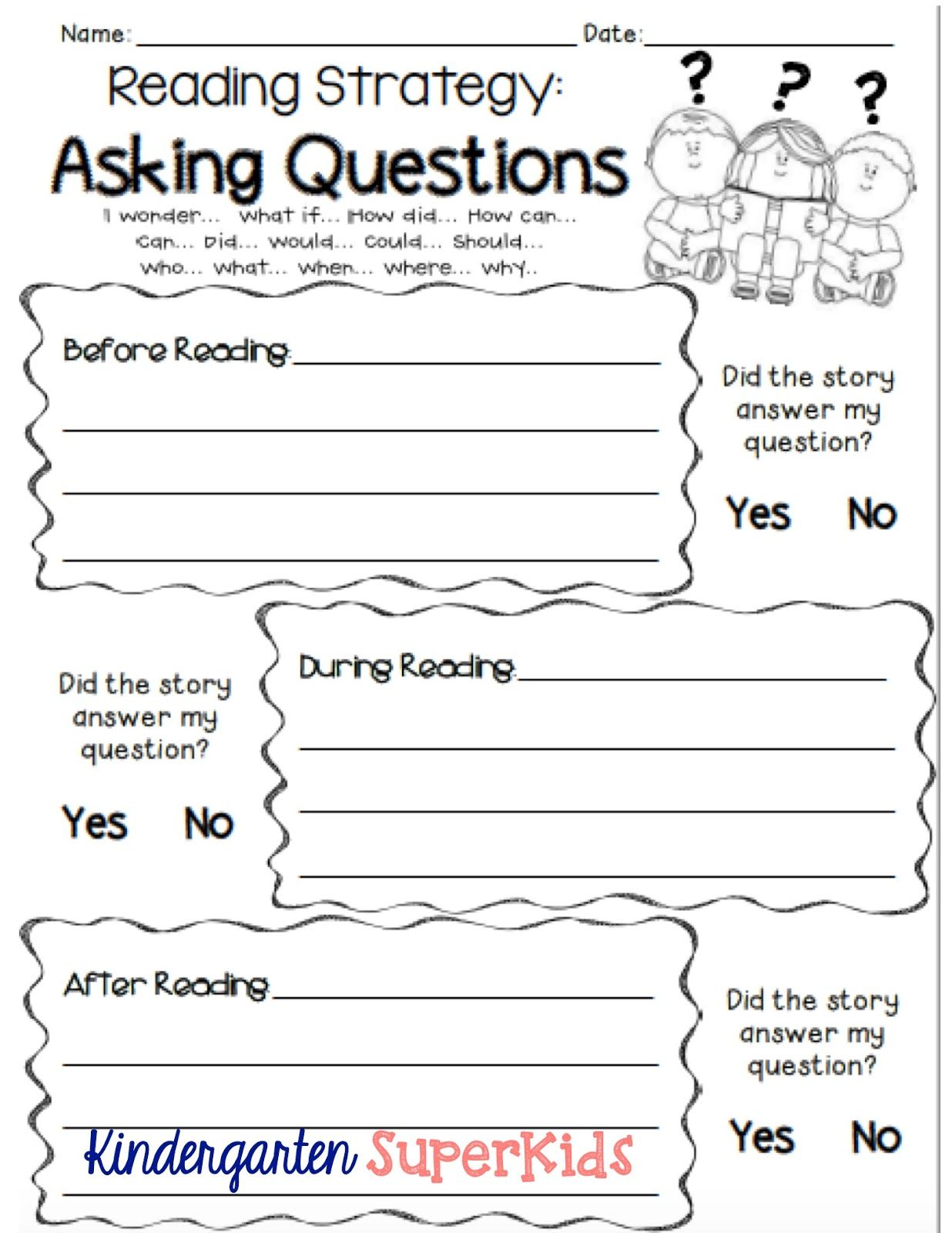 Asking Questions Reading Strategy Free Student Recording Sheet Kindergarten 1st Grade 2nd Grad Reading Strategies This Or That Questions Reading Worksheets [ 1600 x 1236 Pixel ]