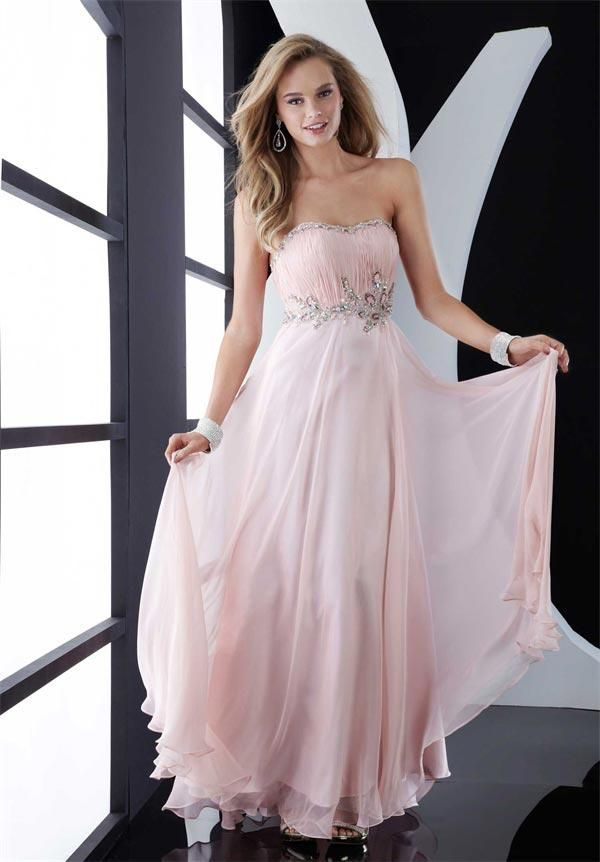 whatgoesgoodwith.com light pink chiffon dress (05) #cuteoutfits ...