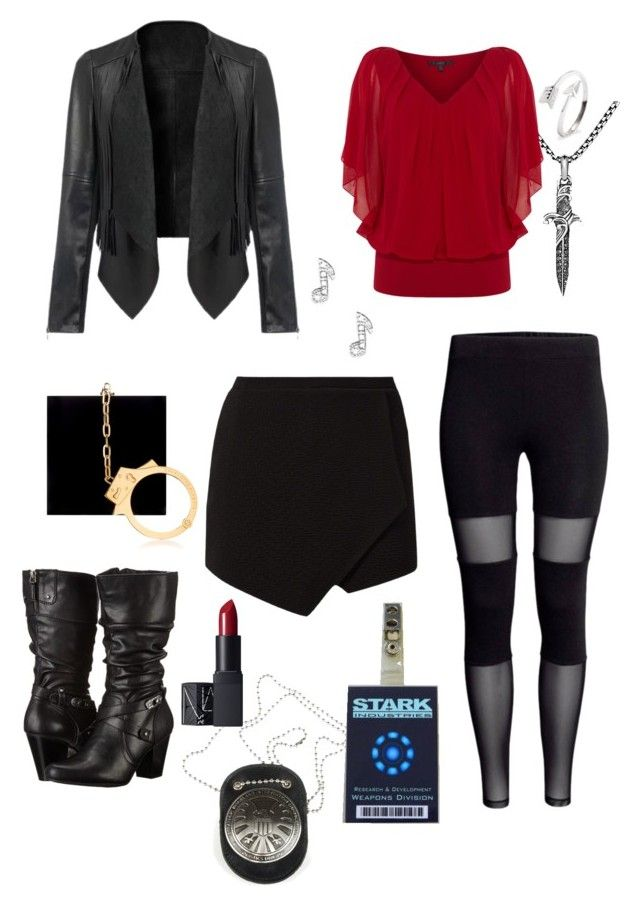"""""""Agent Lewis"""" by illusionsarenotsosimple ❤ liked on Polyvore featuring Charlotte Olympia, White Mountain, David Yurman, Coast and NARS Cosmetics"""