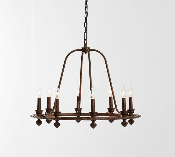 Ornate Iron Ring Chandelier Pottery Barn Made Up My Mind I Think Maybe This One From For Dining Room So Many Choices