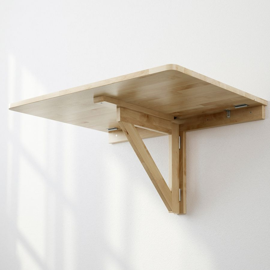 Norbo Mesa Plegable De Pared Abedul Ikea Drop Leaf Table Wall Mounted Table Leaf Table [ 900 x 900 Pixel ]