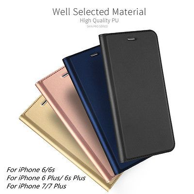 fc40dd7709 Luxury Magnetic Leather Wallet Flip Case Cover Card Holder Fr iPhone 6 6S 7  Plus