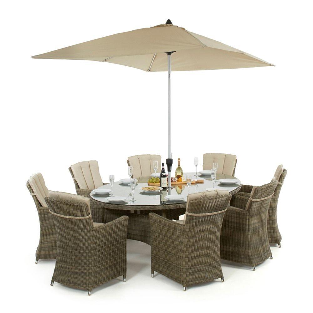 Maze Rattan Winchester Venice 8 Seat Oval Garden Furniture Set