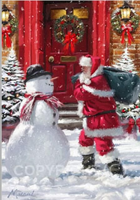 Weihnachtsbilder Weihnachtsmann.Illustrations De Richard Macneil Holiday Christmas