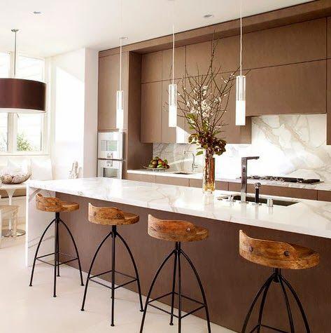 40 diseños de modernas islas de cocina, ideas con fotos Cocina