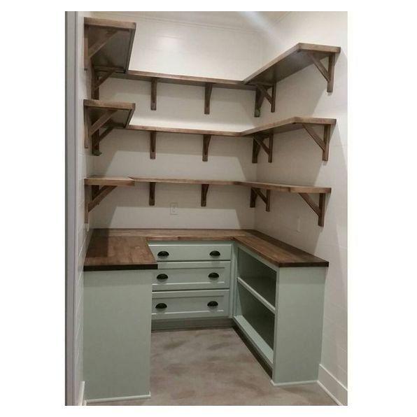 small walk in pantry design