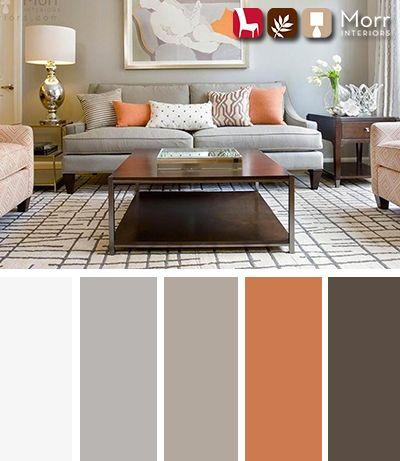 Morr Interiors Design Palette Living Room Color Schemes Living Room Decor Gray Living Room Orange