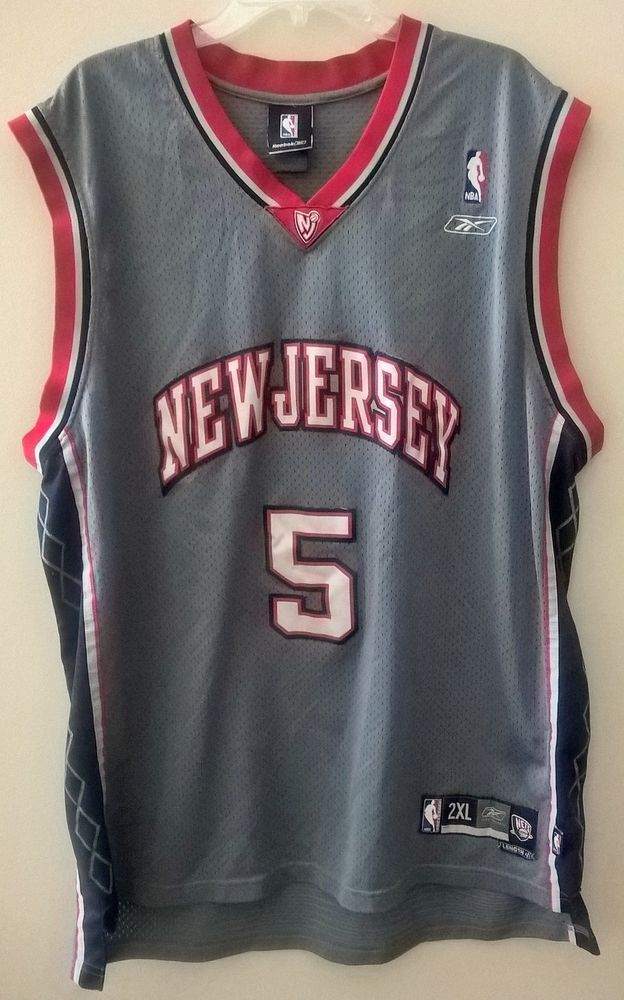 New Jersey Nets Jason Kidd  5 Reebok Authentic NBA Jersey 2XL  Reebok   NewJerseyNets 40cf9859a