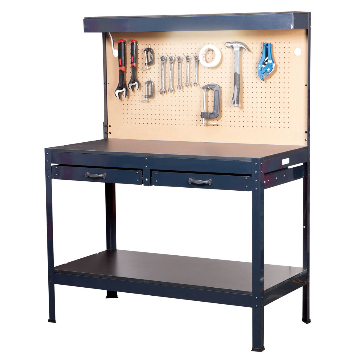 workbench work drawers top metal duty adjustable bench legs material with heavy