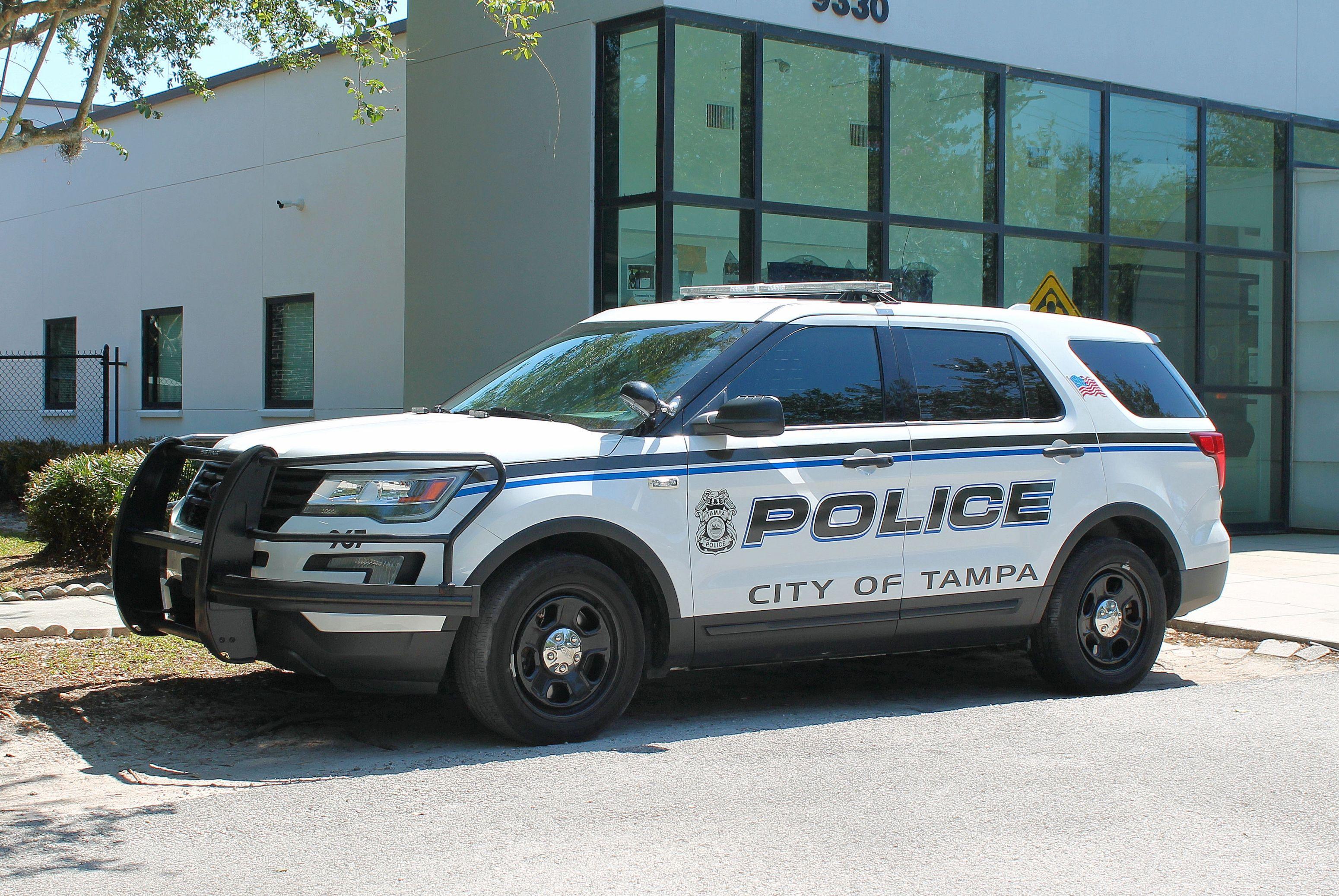 Tampa Florida Tampa Police Department Ford Utility Interceptor Vehicle Florida Police Department Tampa