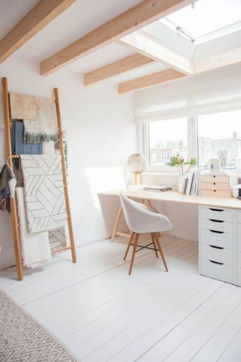 40 Good Scandinavian Home Office Designs That Inspire Page 43 Of 45 In 2020 Minimalist Apartment Decor Scandinavian Furniture Design Home Office Design